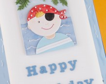 'Boy Pirate Cake' - Made using the pirate from our 'Assorted Mini Set' and 'Tubby Alphabet Set'