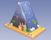Triangle Nativity Cake - Right Side