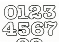 ET (Easy Twist) Small Numerals